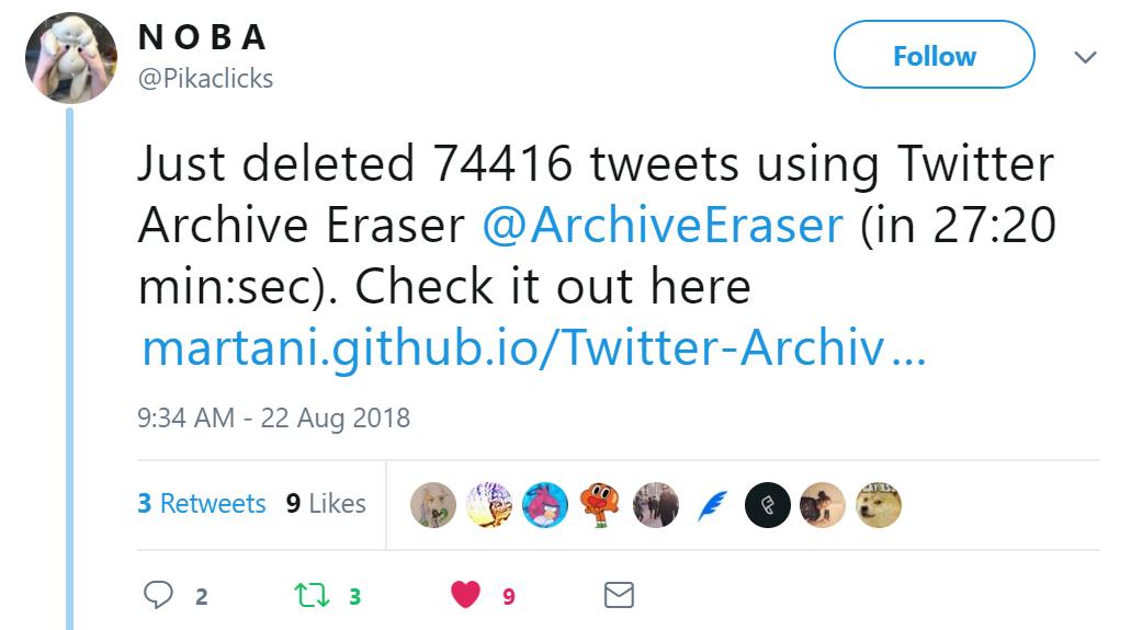 Twitter Archive Eraser - FAQ