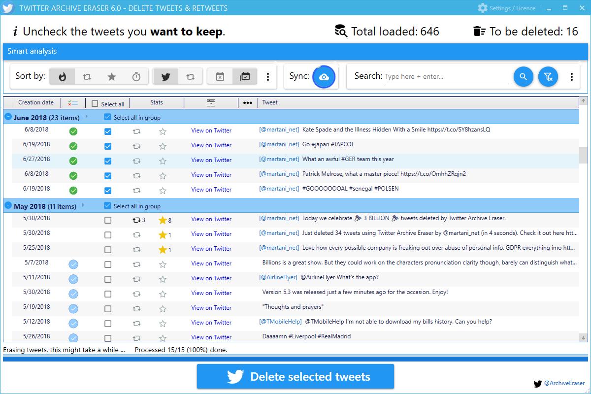 Twitter Archive Eraser: Delete Tweets, Favorites & Direct Messages